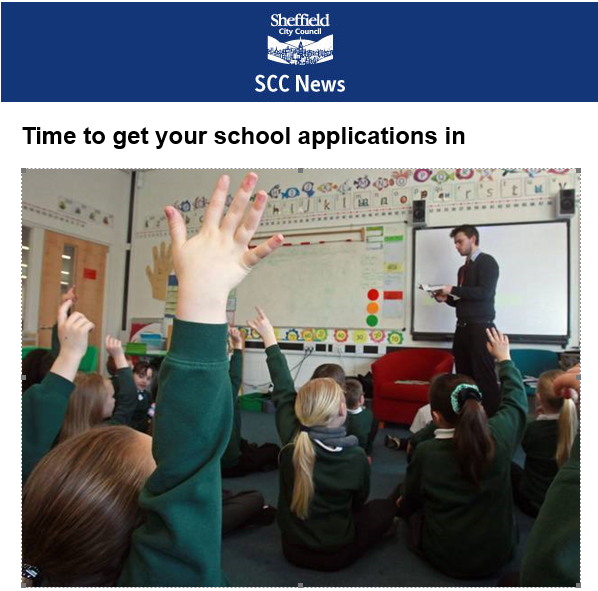 Time to get your school applications in