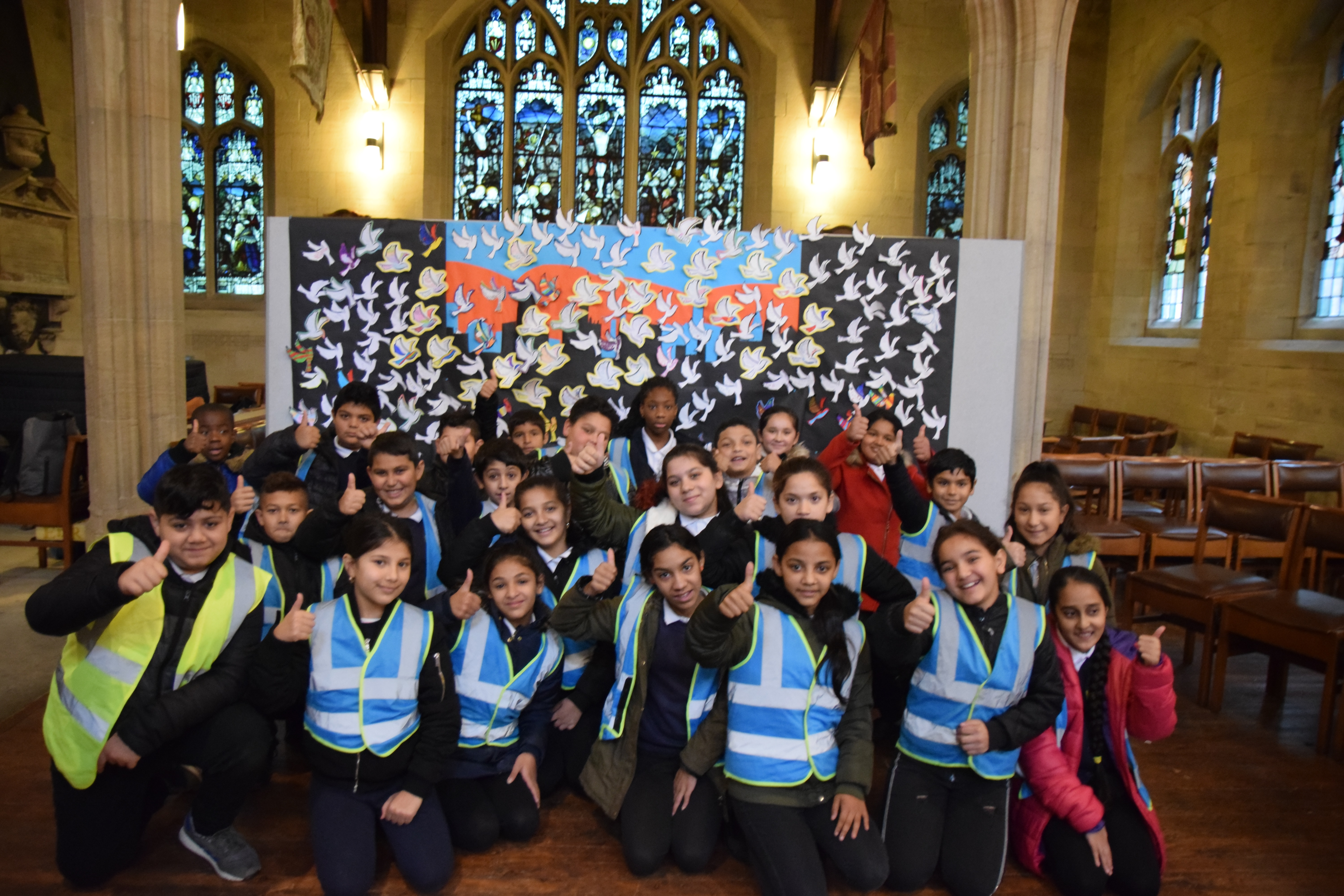 Sheffield school children gather to remember the fallen, and join a movement of change for peace